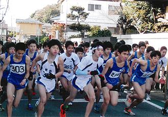 高校生らは2月の「かながわ駅伝」代表選手選考にも関わるレースとなった(提供:市陸上競技協会)