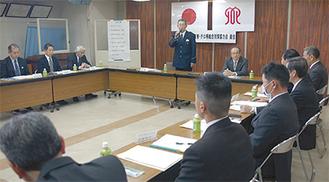 設立総会で挨拶する森一鎌倉警察署長