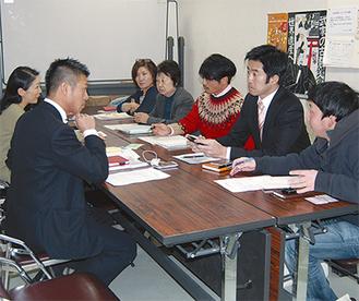 地域の防災について議論がかわされた(今月6日鎌倉NPOセンター)