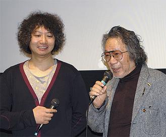 最優秀賞の常盤さん(左)と大林監督(右)