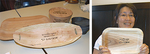 椀型、舟型、平皿の3種類を用意。右は代表の竹林さん