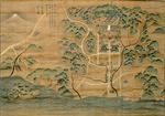 絹本著色  相州鎌倉江之島図