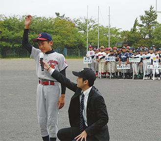 藤沢ファイターズの林主将が選手宣誓を務めた
