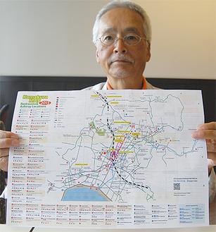 「実際に歩いて確認した情報です」と上田さん