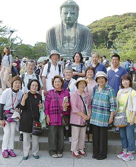 大仏殿や小町通りなど鎌倉の名所を楽しんだ