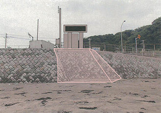 「情報盤」の設置イメージ=県藤沢土木事務所提供