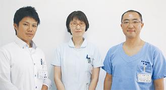 高橋医師(右)や看護師らが会場で相談に応じる