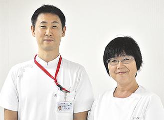 講演する石井さん(左)と三浦さん