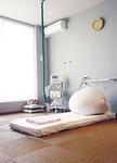 楽な姿勢がとりやすい分娩室