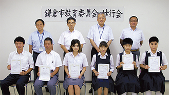 前列左から西原さん、長谷川さん、清水さん、米田さん、若林さん、長澤さん
