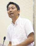 答弁する松尾崇市長
