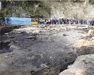 無量寺跡発掘調査の様子
