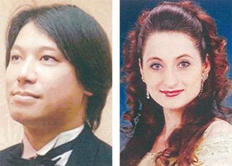 塩塚さん(左)とオクサーナさん