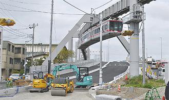 「大船立体」の台側では交差点の整備が進む