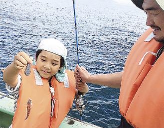 船釣り体験も実施