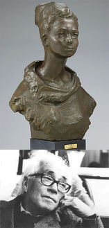 《ポーレット》1968年 ブロンズ 制作地:鎌倉(上)と高田博厚