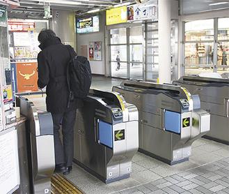 現在の湘南モノレール大船駅の改札口