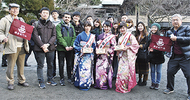 母校の留学生を鎌倉に招待