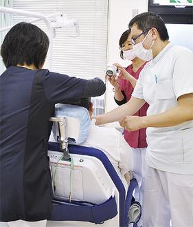 障害者専用の診療台も導入された