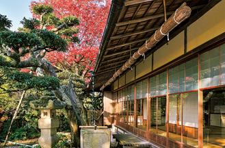 紅葉と同別荘(2014年撮影)