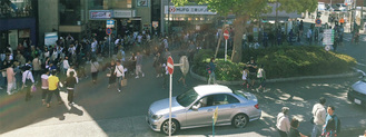 昨年5月4日の鎌倉駅西口前の様子