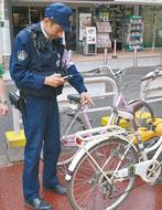 自転車の盗難が急増