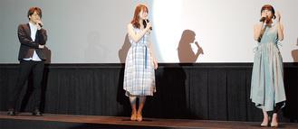 左から石川界人さん、瀬戸麻沙美さん、水瀬いのりさん