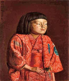 岸田劉生《童女図(麗子立像)》1923年 油彩