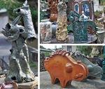 これまでに制作した陶芸作品の一部