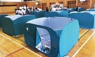 避難所の感染症対策進む