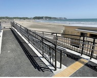 砂浜へのスロープ完成