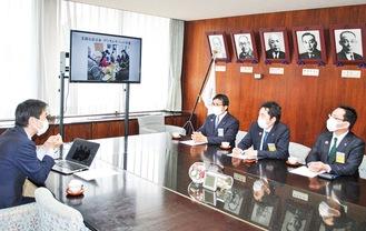 松尾市長から説明を受ける会員