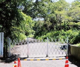 閉鎖されている野村総研跡地