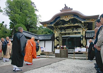 「お江」霊屋の門、建立時の姿に
