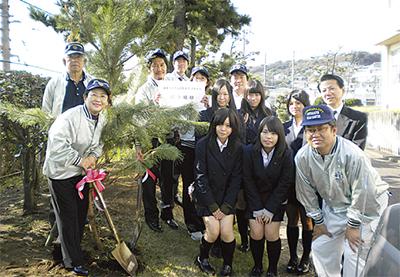 黒松を15本植樹