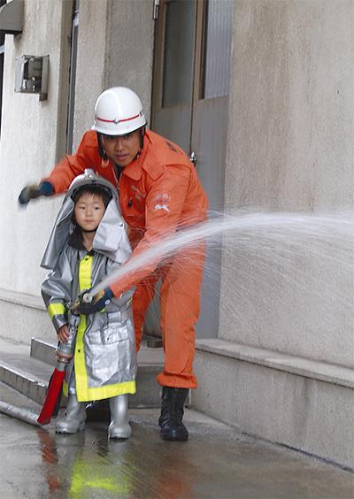 「ぼくも消防士になりたい」