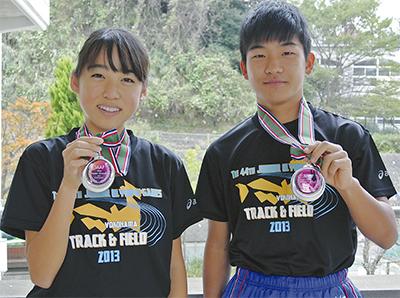 手広中の2選手が銀メダル
