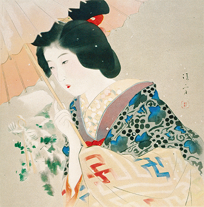 清方が描く新春の風情