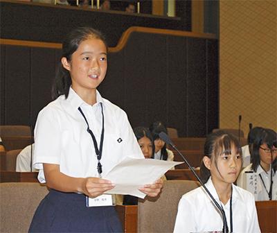 子ども議員が市長に質問