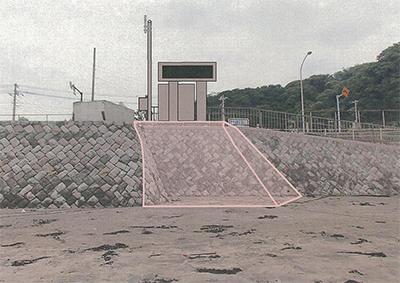 県が「津波情報盤」設置