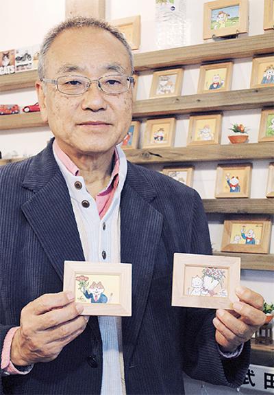 小山さんのミニ画展示会
