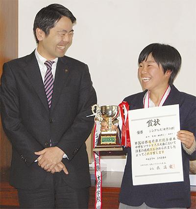 二中・鈴木さんが優勝