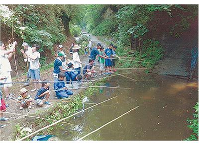 太刀洗川で川遊びの会