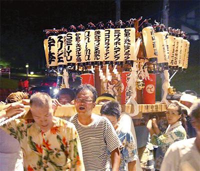 七里ガ浜で夏祭り