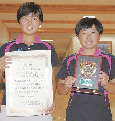 鈴木・冨澤ペアが全国5位