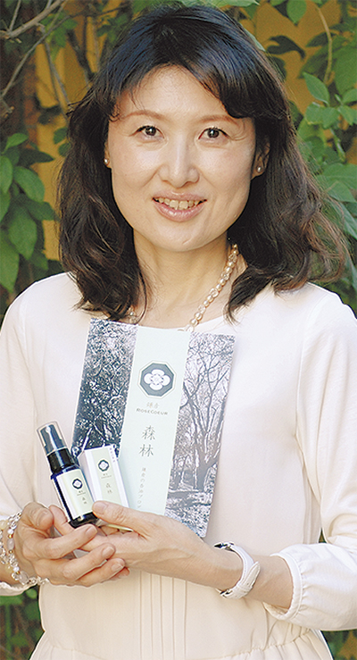 鎌倉産原料から香油製造