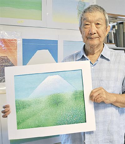 富士山テーマに絵画展