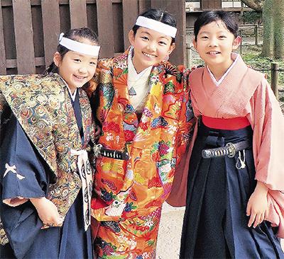 鎌倉の児童が子ども能に出演