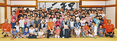 福島の親子が鎌倉遊び