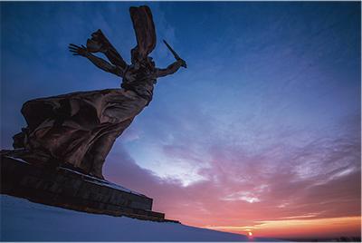 「ロシアの夜明け」写す